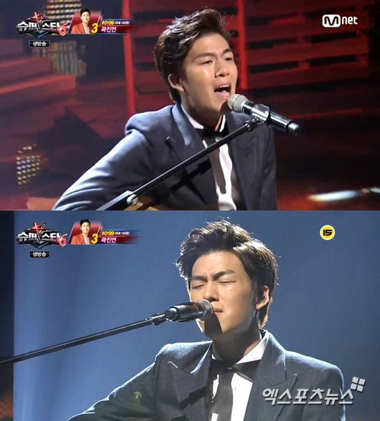 '슈퍼스타K6' 곽진언이 감성적인 무대를 펼쳤다. ⓒ Mnet 방송화면