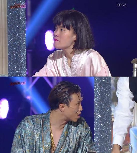 '개그콘서트' 박지선이 에이핑크와 이효리를 위하는 척했다. ⓒ KBS 방송화면