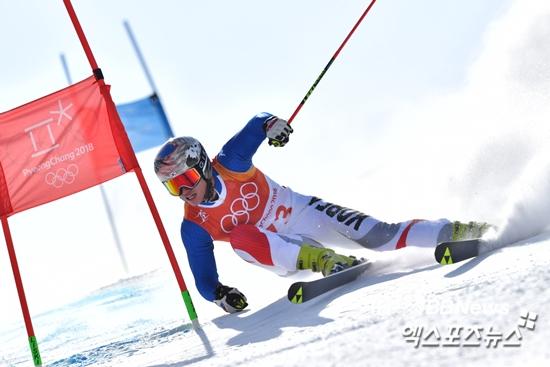 평창 스키 알파인스키 김동우 남자 대회전 39위 정동현 실격