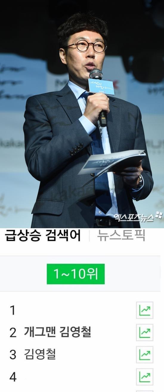 김영철, 실검 오른 소감