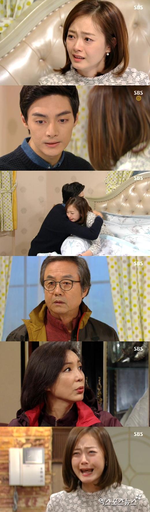 '끝없는 사랑'의 전소민이 정동환과 황정음의 관계를 알고 절망했다. ⓒ SBS 방송화면